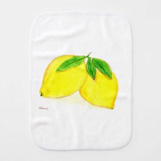 Zitronen drucken gelbe Früchte Spucktuch