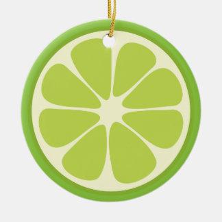 Zitronen-Limone grüne saftige Keramik Ornament