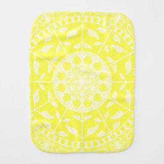 Zitronen-Mandala Baby Spucktuch