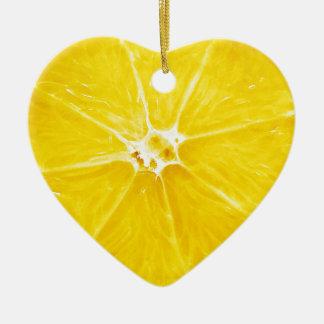 Zitronen-Scheibe Dble-versah Herz Ornanent mit Keramik Ornament