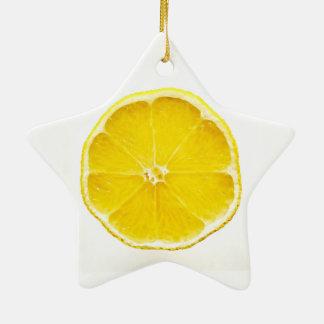Zitronen-Scheibe Dble-Versah Stern-Verzierung mit Keramik Ornament