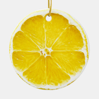 Zitronen-Scheibe Dble-versah Verzierung mit Seiten Keramik Ornament