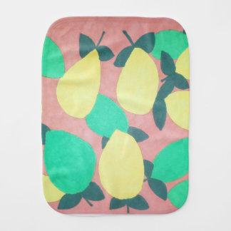 Zitronen-und Kalk-Zitrusfrucht-neues Muster Baby Spucktuch