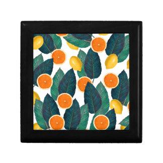 Zitronen und Orangen weiß Erinnerungskiste