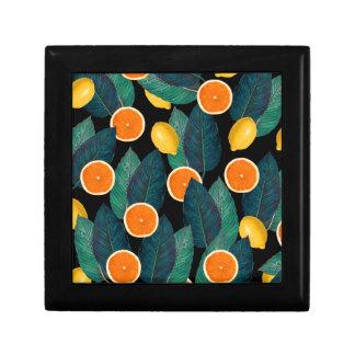Zitronen- und Orangenschwarzes Geschenkbox
