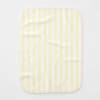 Zitronengelbe und weiße Pastellstreifen hellgelb Spucktuch