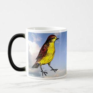 Zitronengelber Vogel Verwandlungstasse