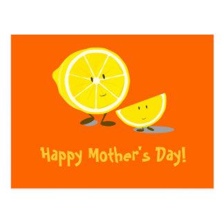Zitronenmamma und -kind der Mutter Tages Postkarte