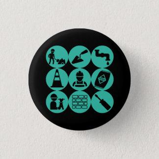 Ziviler Technik Knopf Runder Button 2,5 Cm