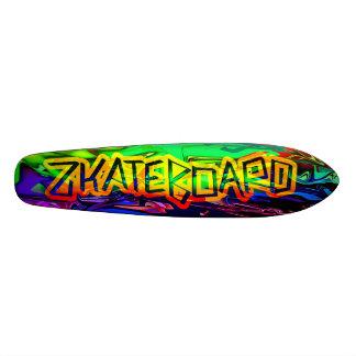 Zkateboard psychedelischer Plattform-Entwurf 19,1 Cm Old School Skateboard Deck