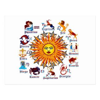 Zodiac-Signs-All-V-1 Postkarte