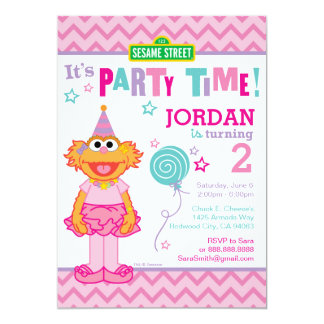 Zoe-Geburtstag 12,7 X 17,8 Cm Einladungskarte