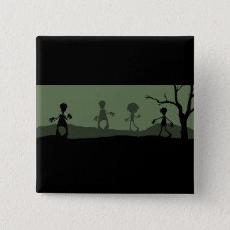Zombie-Apokalypse! Quadratischer Button 5,1 Cm