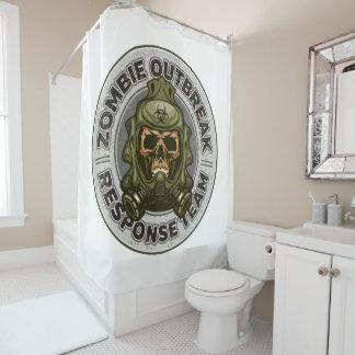 Zombie-Ausbruch-Warteteam Duschvorhang