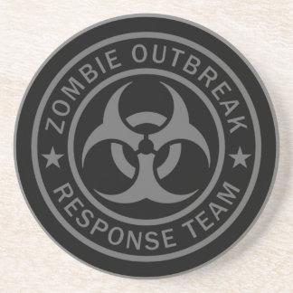 Zombie-Ausbruch-Warteteam Sandstein Untersetzer