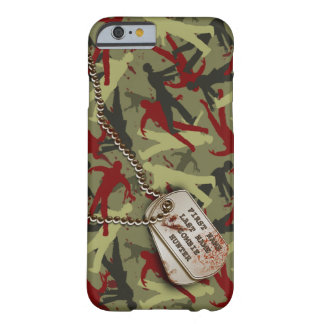 Zombie-Camouflage mit Hundeplaketten Barely There iPhone 6 Hülle