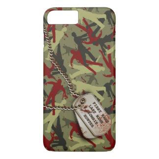 Zombie-Camouflage mit Hundeplaketten iPhone 8 Plus/7 Plus Hülle