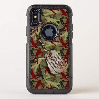 Zombie-Camouflage mit Hundeplaketten OtterBox Commuter iPhone X Hülle
