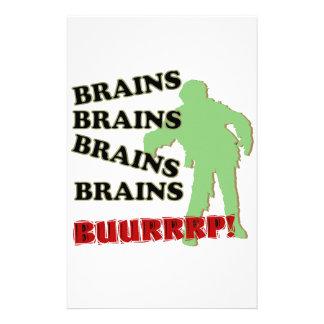 Zombie-Gehirn-Gehirn-GehirneBurp! Personalisierte Druckpapiere