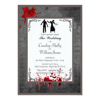 Zombie-gotische elegante Hochzeits-Einladung Karte