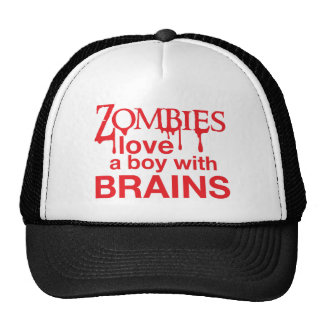 Zombie-Liebe ein Junge mit Gehirnen Baseballcaps