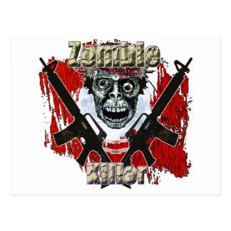 Zombie-Mörder 4 Postkarte