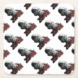 Zombie Rechteckiger Pappuntersetzer