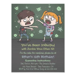 Zombie scherzt Halloween-Geburtstags-Party 10,8 X 14 Cm Einladungskarte