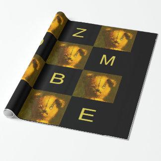 Zombie-Teddybär-Packpapier Geschenkpapier