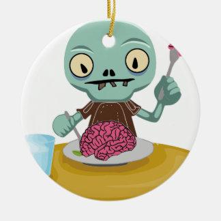Zombiekind, das Gehirn isst Keramik Ornament