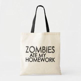 Zombies an meinen Hausaufgaben Budget Stoffbeutel