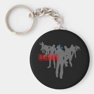 Zombies Standard Runder Schlüsselanhänger