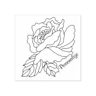 Zu färben und zu personifizieren Rose Gummistempel