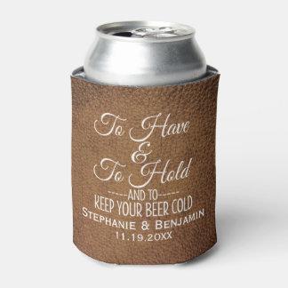 Zu haben und Griff und Ihre Bier kalte Hochzeit Dosenkühler