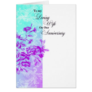 Zu meinem liebevollen Ehefrau-Jahrestag Grußkarte