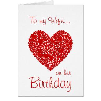 Zu meiner Ehefrau auf ihren Geburtstag-Roten Karte