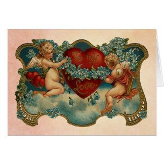 Zu meiner Karte LiebeVintagen Valentines Tages