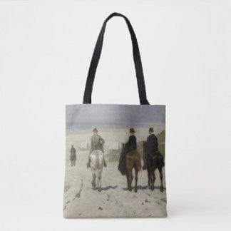 Zu Pferde Fahrt entlang dem Strand - schöne Kunst