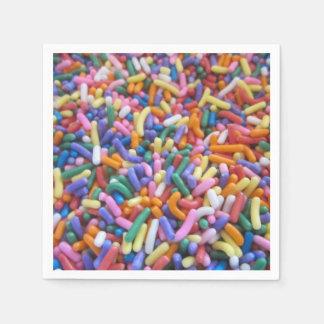 Zucker besprüht serviette