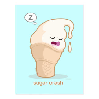 Zuckerabbruch Postkarte