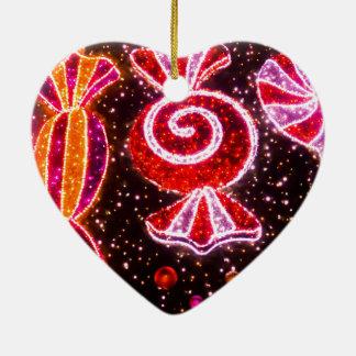 Zuckerkonfektionsartikel-Feuerwerke geformt Keramik Herz-Ornament