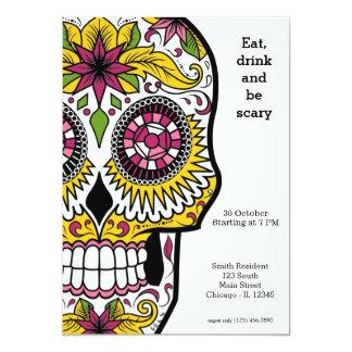 Zuckerschädel-Party 12,7 X 17,8 Cm Einladungskarte