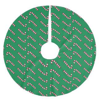 Zuckerstange-Baumrock Polyester Weihnachtsbaumdecke