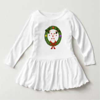 Zuckerstange im Kranz-Kleinkind-Rüsche-Kleid Kleid