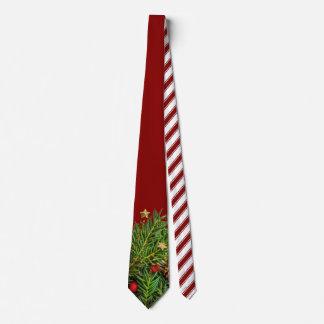 Zuckerstange Stripes Weihnachtskiefern-Nadeln Personalisierte Krawatte