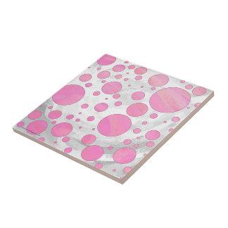 Zuckerwatte-Rosa-Tupfen Kleine Quadratische Fliese