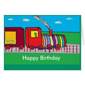 Zug, alles Gute zum Geburtstag Karte