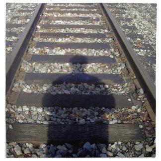 Zug-Bahn-Schatten Stoffserviette