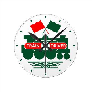 Zug-Fahrer Runde Wanduhr
