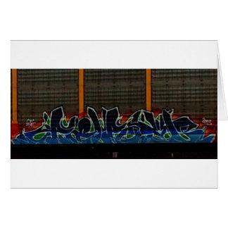 Zug-Graffiti Karte